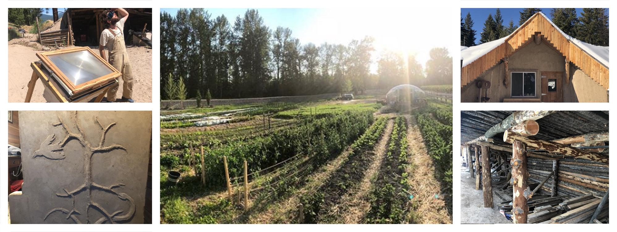 josiah solar glass recycler, garden, wofati rocket stove