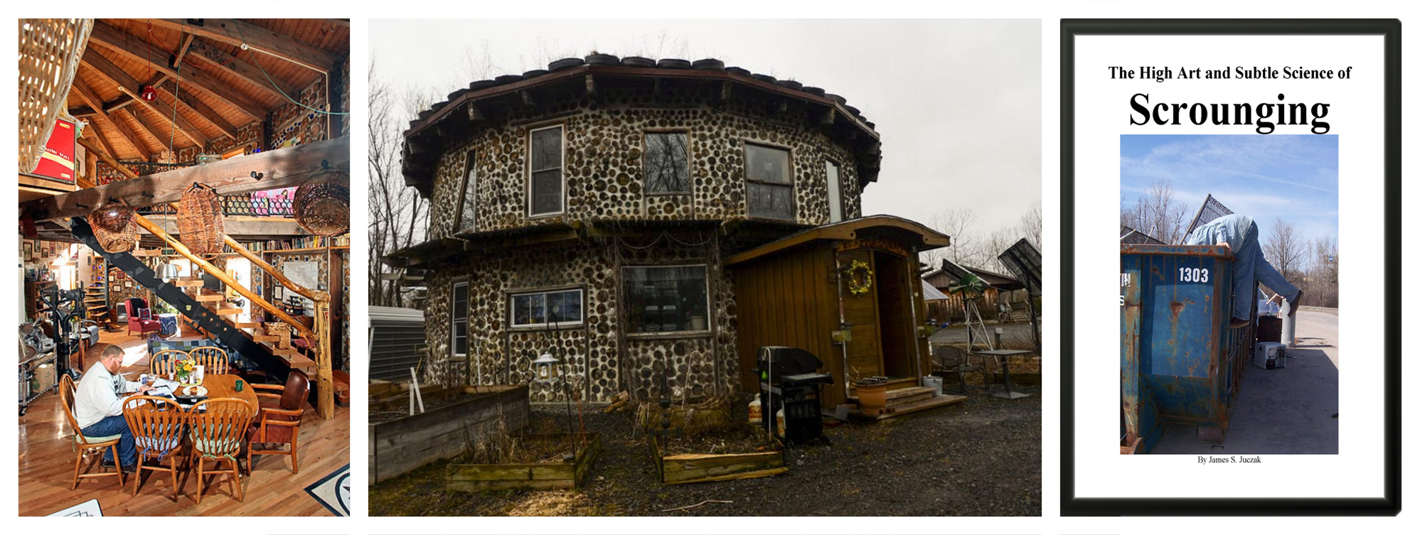 Cordwood papercrete home and The Art of Scounging