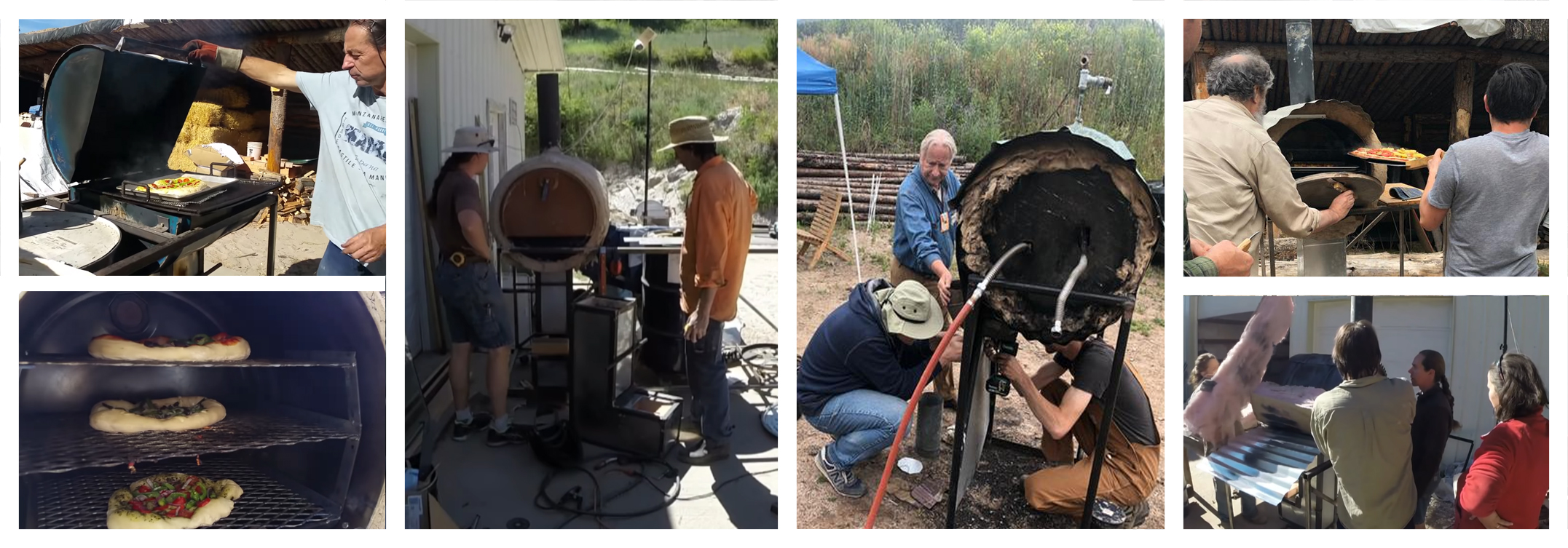 people building and using rocket ovens
